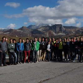 First group visit in a ski resort during the general assembly