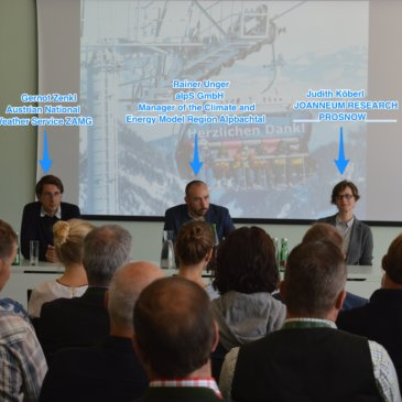 Climate Change and Tourism, a talk about PROSNOW