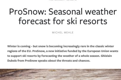 A specific interview of PROSNOW